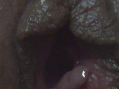 My cum in her pussy