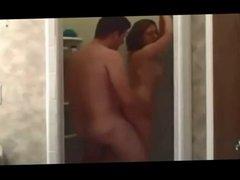 Bubble butt milf fucked in shower
