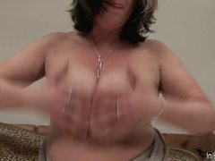 Big titted mature slut mom playing with herself