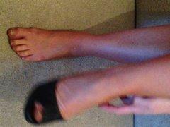 Louise in vintage stockings and heels