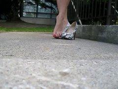 High heels, dangling