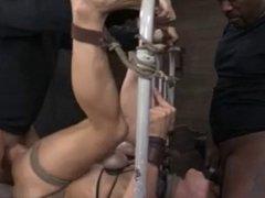 BDSM 2 Dicks 1 Chick Bondage Fuck...Kyd