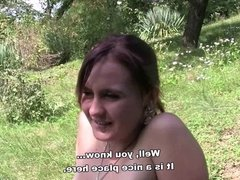 Bitch STOP - Tattooed hooker Eva fucked outdoor