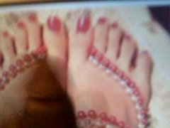 shooting my load on IsisLoves pretty feet