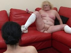 Granny dominating her horny pupil