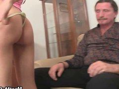 Naughty GF have oral fun with his olds