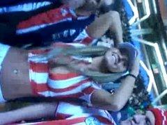 terrible puta y re tetona paraguaya en la cancha