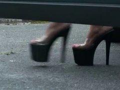 LGH Tamia High Heels - Plateau - im Auto