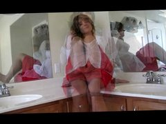 Tranny Solo in Bathroom