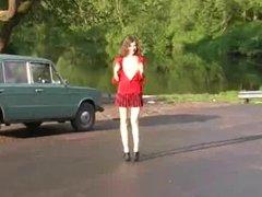 Teen Whore in mini Skirt fucked hard