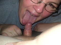 wife sucking husbands cock
