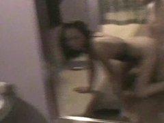 Horny Jessica - quiet sex in dressing room