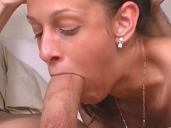 Beautiful Brunette One Action : Sucking Cock
