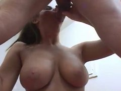 Seduces Him By Walking On Her Knees Then Sucking His Cock
