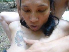 THAI GIRL GETS FUCKED OUTSIDE