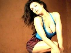 Denise Milani Sexy Striped Skirt - non nude