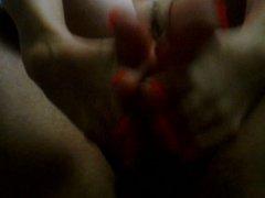 Sexy feet giving a footjob