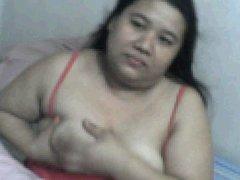 FAT FILIPINA MOM ROWENA SOTITO LICKING HER OWN BOOBS