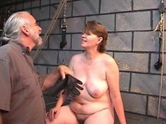 Nice mature woman getting caned