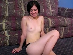 Naked on the floor. JOI