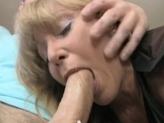 Blonde Mature Sucks And Jerks Off Joey's Cock