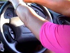 Big Tits Extremly Long Nails blonde drive car