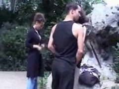 Threeones Frenchs in Public Sex  park