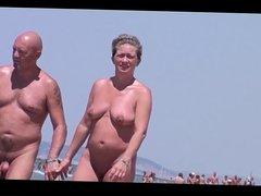 French nudist beach Cap d'Agde people walking nude -- R2F