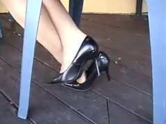 Dangling under Table