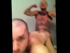 Mean tatted Master Daddy uses his Bitch Slave