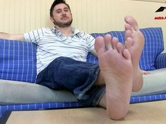 Perving on Jasons Feet MALE FEET SOCKS HUMILIATION SOLO