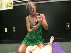 Smoking Granny Handjob