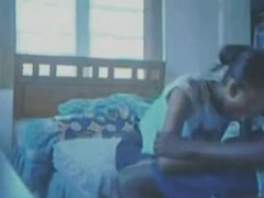 Timid Jamiacan couple perform a little foreplay part 1
