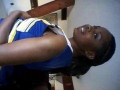 Ebony cheerleader Promise