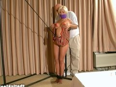 Stacy Burke has her Nipples Teased in Bondage