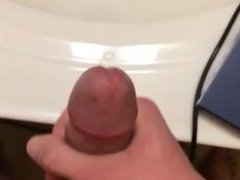 Cum in the bathroom