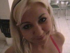 hot blondi gives head to schmock