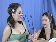 Double Teen Handjob