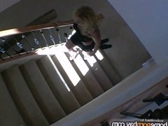 Handjob from sexy amateur blonde MILF in hot amateur porn