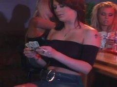Lesbians in a bar