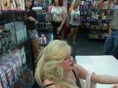 blond slut used in public