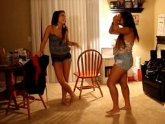 Sexy teens dance on camera