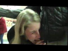 Blowjob and Sex inside Supermarket