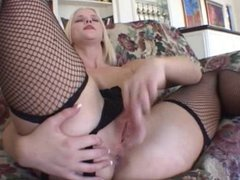 pretty young Blonde gets anal and mouthfull of cum