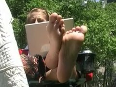 Long soles and white laptop II