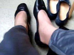 Nylons,Moccasins und Ballerinas