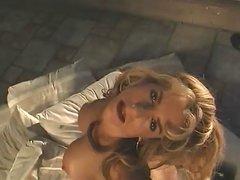 Sexy Blonde Housewife Zarina Plays With Big Black Dildo
