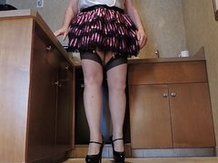 Sissy Ray in black and pink Skirt