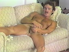 sexy hairy hunk in a vintage solo 2