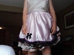 Sissy ray in pink sissy dress and black panties